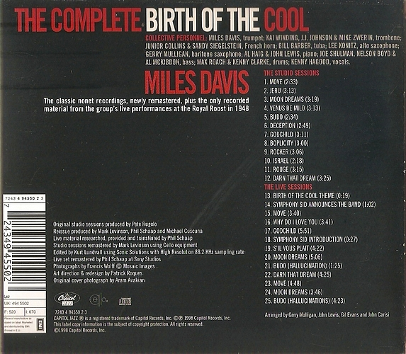 the birth of cool miles davis essay What does cool even mean in 2013 with miles davis's birth of the cool and west side story's (see norman mailer's mostly regrettable essay.